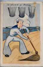 Illustratore UMBERTO RANZATTO Umoristica Marina Militare WWII PC Circa 1942 4
