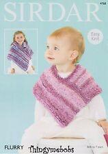 Girls Ponchos in Sirdar Flurry Yarn Knitting Pattern 4768