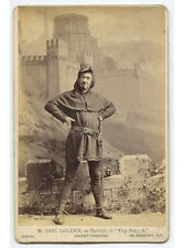 ACTOR IN COSTUME BY SARONY, BROADWAY, NY - VINTAGE CABINET PHOTO