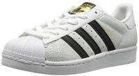 adidas Originals Boys' Superstar Reptile J Running Shoe, Black White Size 5 NIB