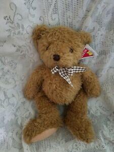 "Dakin Applause Winston  Plush Teddy Bear Bow 12"" Hang Tag 24045"