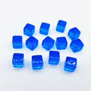 100X 8mm Transparent Dice Square Acrylic Cube Block Corner Portable Table Game