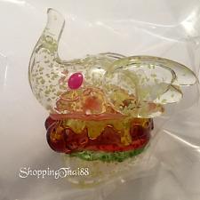 UNBOX Greenie & Elfie GID Glow Flake Burger Elephant Sofubi Vinyl Designer Toy