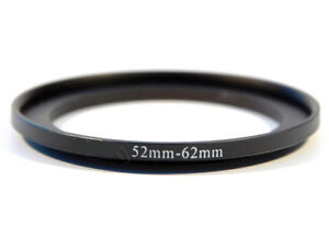 52-62mm Metal Step Up Ring Lens Adapter from 52 to 62 Filter Thread - UK SELLER