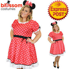 CSW59 Minnie Mouse Lady Curvaceous Plus Womens Fancy Dress Up Costume Book Week