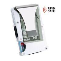 Kreditkarten Halter Geldklammer  | RFID sicher | silber
