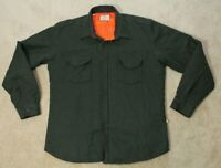 Barbour Beacon Brand Mens Jacket Shirt - XL Olive Green Blaxton Button Front
