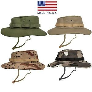 Army Bush Hat Original US Combat Military Fishing Hunting Camping Hiking Boonie