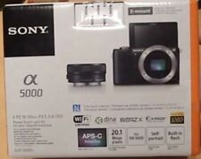 Sony Alpha a5000 Mirrorless Digital Camera with 16-50mm Lens (Black) - Brand New