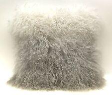 Mon Chateau Luxury Collection Tibetan Fur Pillow, London Fog 18X18 - NEW