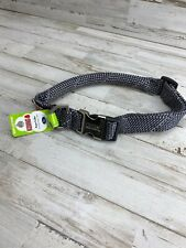 """NEW!! KONG Rope Dog Collar REFLECTIVE XLarge 24""""-30"""" Highest Quality NWT Gray"""