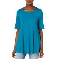 EILEEN FISHER NEW Women's Petites Lightweight Jersey Tunic Shirt Top TEDO
