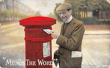 "POSTCARD   COMIC    Postbox   ! Mum's  the Word """