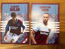 West Ham United Slaven Bilic & Winston Reid Collector's Cards