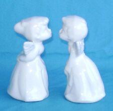 "Kissing Angels White Porcelain Set of 2 Vintage Pair  3 """