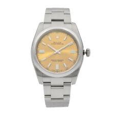Rolex Oyster Perpetual 36mm de Acero Reloj de Hombre con dial de uva blanca 116000 wgso
