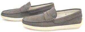 TOD'S MAN LOAFERS SHOES CASUAL FREE TIME SUEDE CODE XXM0MA00010SDDB213 DEFECT
