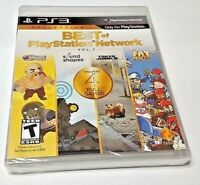 PS3 BEST OF PLAYSTATION NETWORK VOL. 1 NEW SEALED REGION FREE Ships From Europe