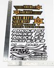 Sticker Police Sheriff Style RC Car Truck Decal fit Most 1/10 1/8 Scale