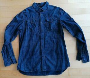 Gstar RAW Hemd, Gr. L,  blau, Herren, langarm,