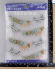 Jolee's MY TRIP REPEATS Boutique Stickers PLANE TRIP VACATION NEW