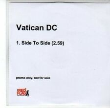 (DG153) Vatican DC, Side to Side - 2006 DJ CD