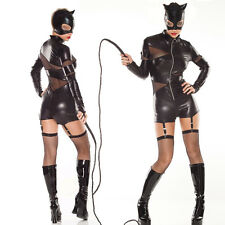 SEXY ADULT CAT WOMEN SUPER HERO DARK NIGHT FANCY DRESS HALLOWEEN COSTUME 8-12