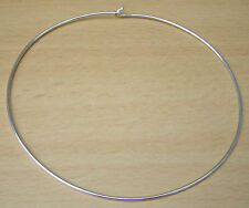"""Silver Plated CHOKER Torque Necklace Jewellery 16"""" Inch"""