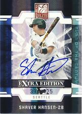 2009 Elite Extra Edition Shaver Hansen TOTC Autograph 394/425 Seattle Mariners