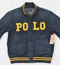 Polo Ralph Lauren Varsity Inspired Jean Baseball Denim Jacket St Andrews XL NWT