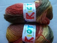 King Cole Riot wool blend gradient DK yarn, Beech, lot of 2 (324 yd ea)