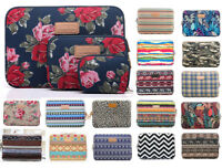 """Canvas 10""""13""""14""""15""""17"""" Laptop Sleeve Pouch PC Carry Bag Case For Macbook Asus HP"""