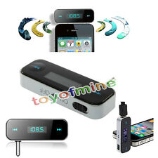 3.5mm In Car Handsfree FM Transmitter for iPhone 4 4S 5 5S SEiPod MP3 Cell Phone