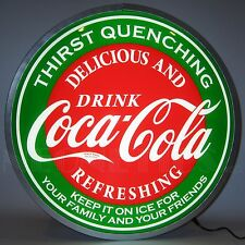 "Coca Cola Evergreen Backlit Led Neon Lighted Sign 15""x15"""