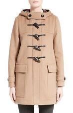 $1195 BURBERRY Brit Duffle Coat Baysbrooke Heart Lined Wool Camel Jacket 8- 42
