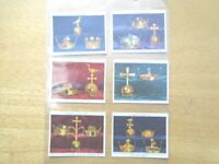 1937 Player BRITISH REGALIA royal crown orb set 25 lg. cards Tobacco Cigarette