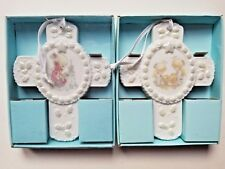 2 Precious Moments Come Let Us Adore Him/Tell Me The Story Christmas Ornaments