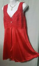 """Amoureuse Sexy Red Lace Babydoll Nightgown Large 48""""  Bust"""