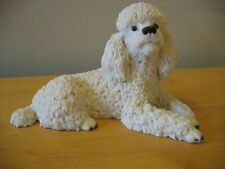 1988 CASTAGNA White Resin Poodle Italy