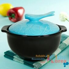 Dolsot Korean Clay Pot Ceramic Hot Sizzling Pot Earthenware Large Size w/ Lid