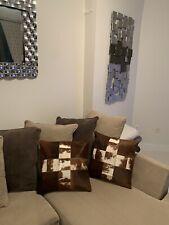 Decorative Cowhide Pillow Cover Set