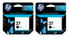 HP Genuine 27 Black 2-Pack Ink In OEM Bags Deskjet 450ci, 450wbt, 460cb, 656cvr