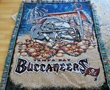 Blanket Throw Tampa Bay Buccaneers Afghan NFL Tapestry w/ Fringe Colorful