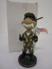 Savannah Sand Gnats Mascot Military w/Flag Camouflage JEEP Bobblehead RARE