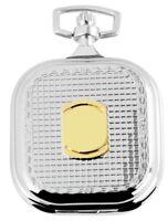 Taschenuhr Weiß Silber Gold Klassik Wappen Muster Analog Quarz D-180712000045275