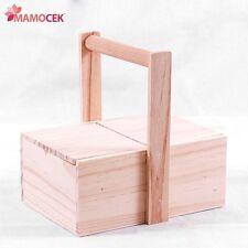 PORTA LAVORO PORTA CUCITO legno grezzo scatola cotone ago filo decoupage cm22x16