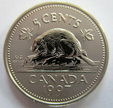 1997 CANADA 5 CENTS SPECIMEN NICKEL COIN