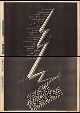 """FLASH GORDON__Original 1980 """"Special Preview"""" Trade AD promo / poster__SAM JONES"""