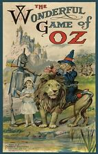 "1921 Wizard Of Oz Vintage Game Box Cover Poster Dorothy Tin Man & Lion 11""X17""!"