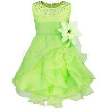 Pageant Flower Girl Dress Kids Birthday Wedding Bridesmaid Gown Formal Dresses